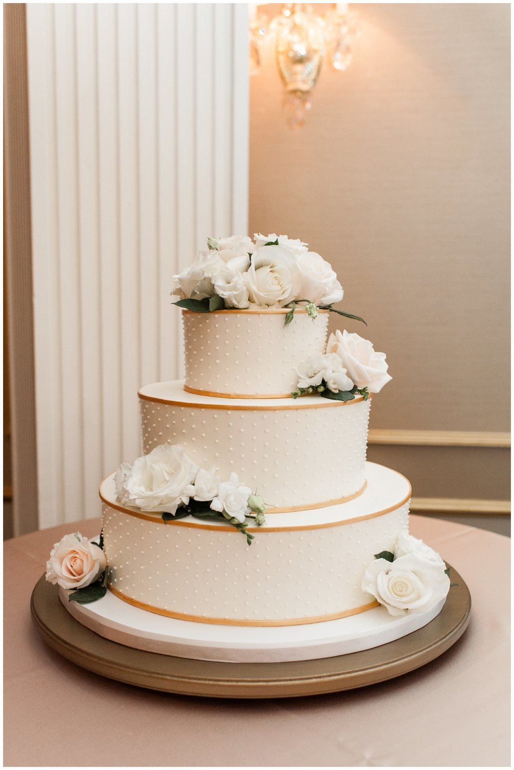 Dessert Works Textured wedding cake for Lenox Hotel Wedding in Boston