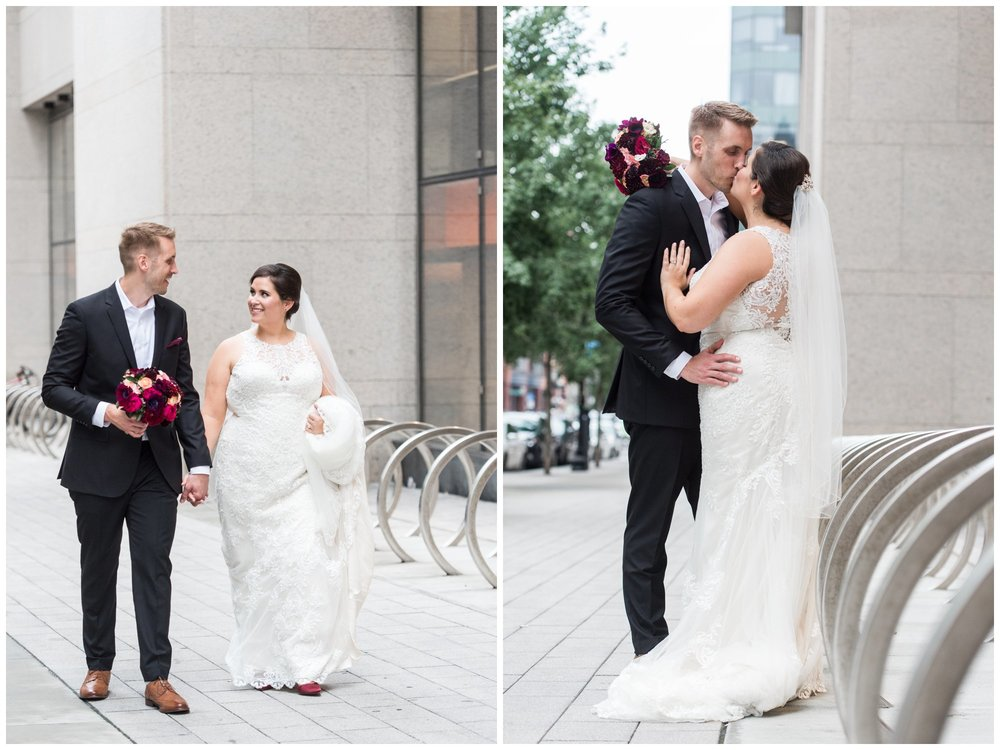 Lenox Hotel Boston Wedding bride and groom newlyweds