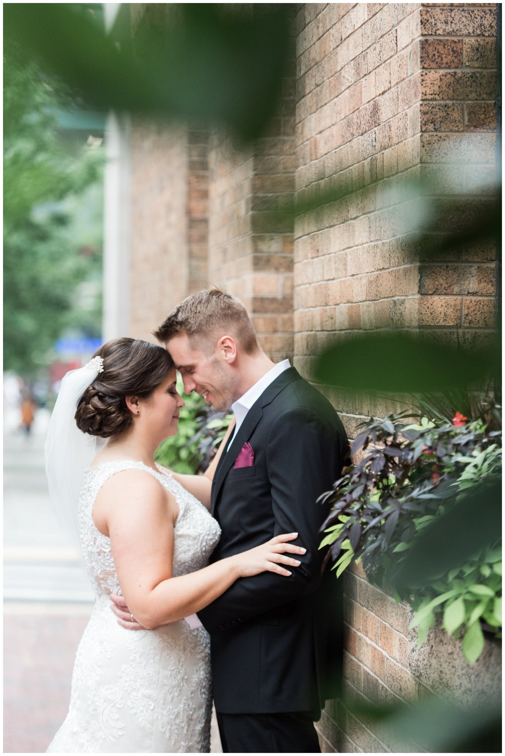 Lenox Hotel newlyweds portraits boston wedding day