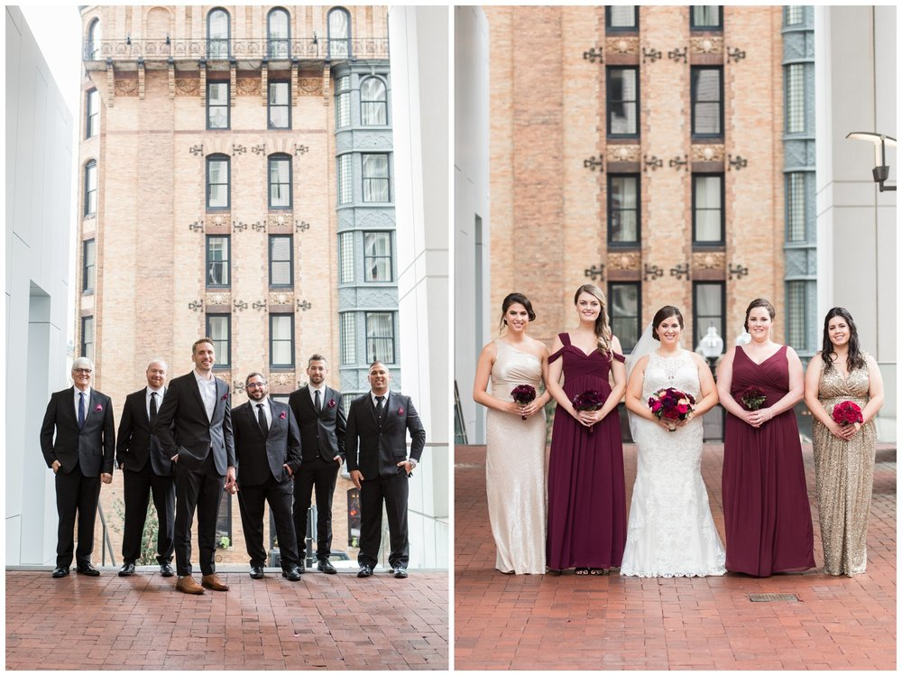 Lenox Hotel Boston wedding bridal party photos