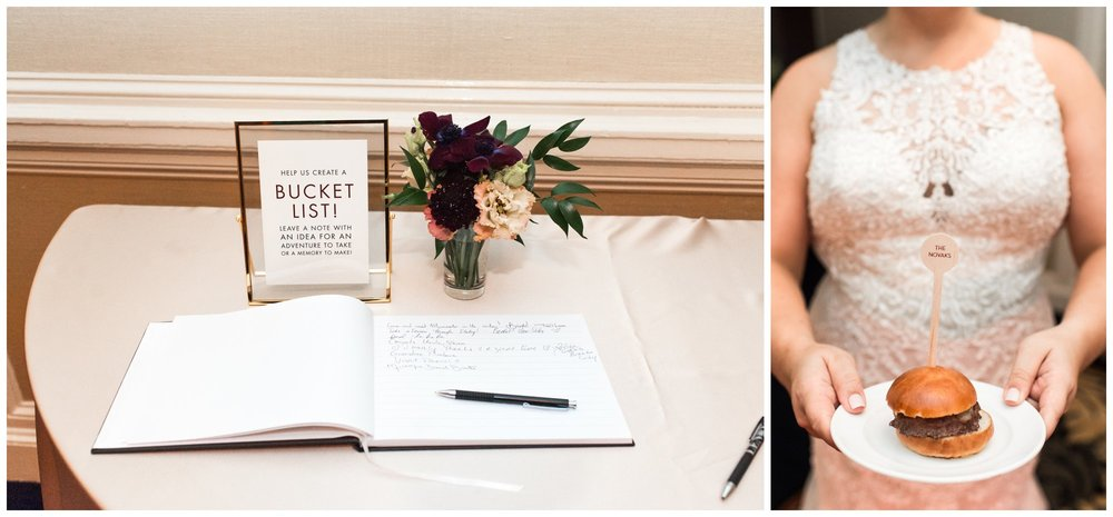 lenox hotel wedding details by Lynn Graham Designs and Lenox Catering late night sliders