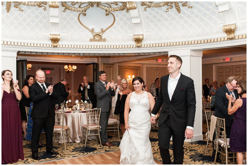 Lenox Hotel Dome Room Wedding reception Boston