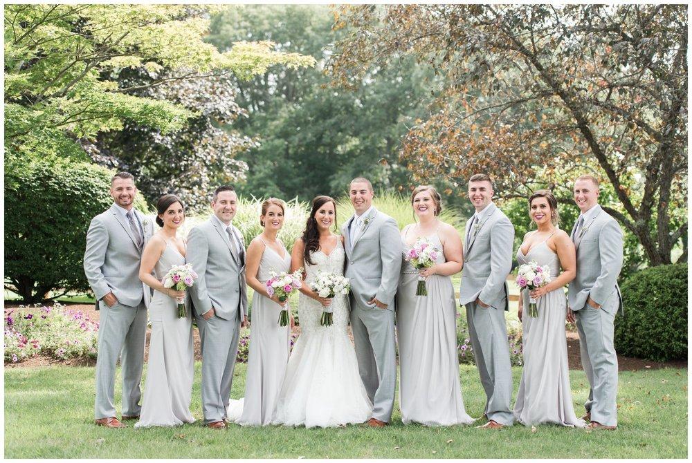 lavender and gray bridal party fun at The Villa Summer Wedding