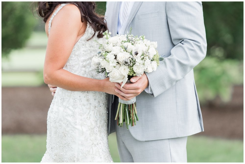 summer wedding at the villa with bridal bouquet by perros flowers