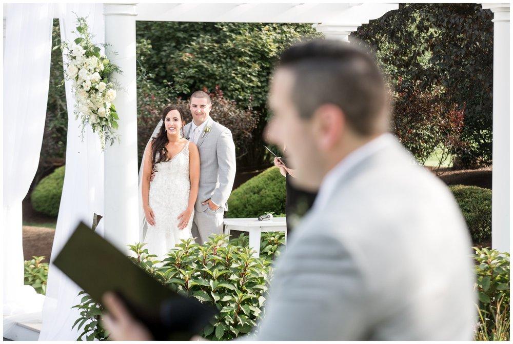 singer at The Villa Summer Wedding Ceremony
