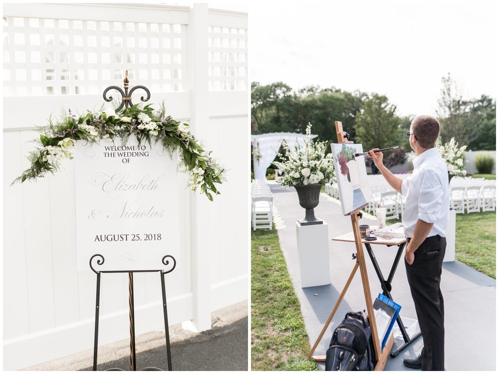 The Villa Summer Wedding Ceremony with live painter