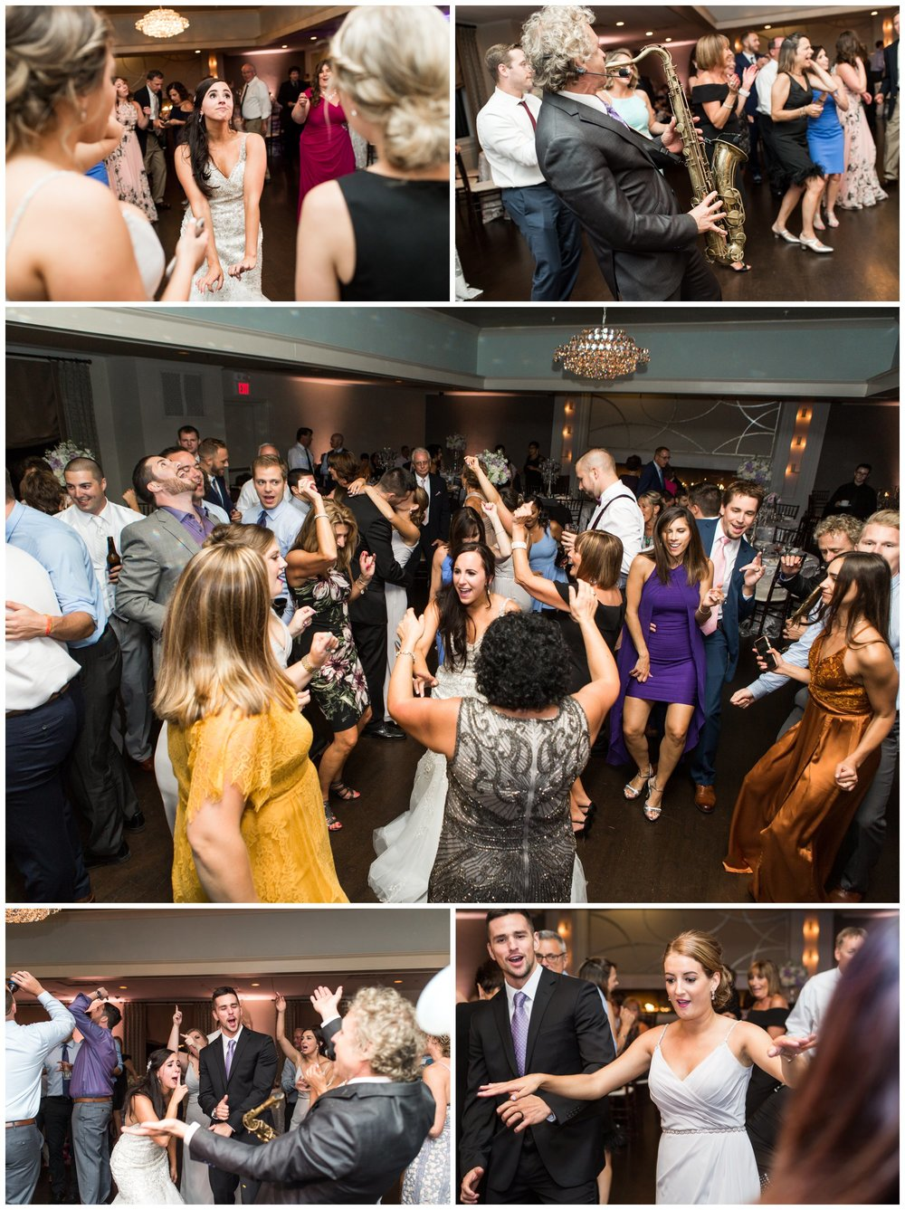 party time at the villa summer wedding