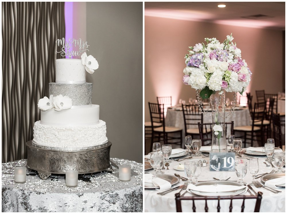 Just Dessert Bakery and Cafe wedding cake at the villa at riddler country club wedding