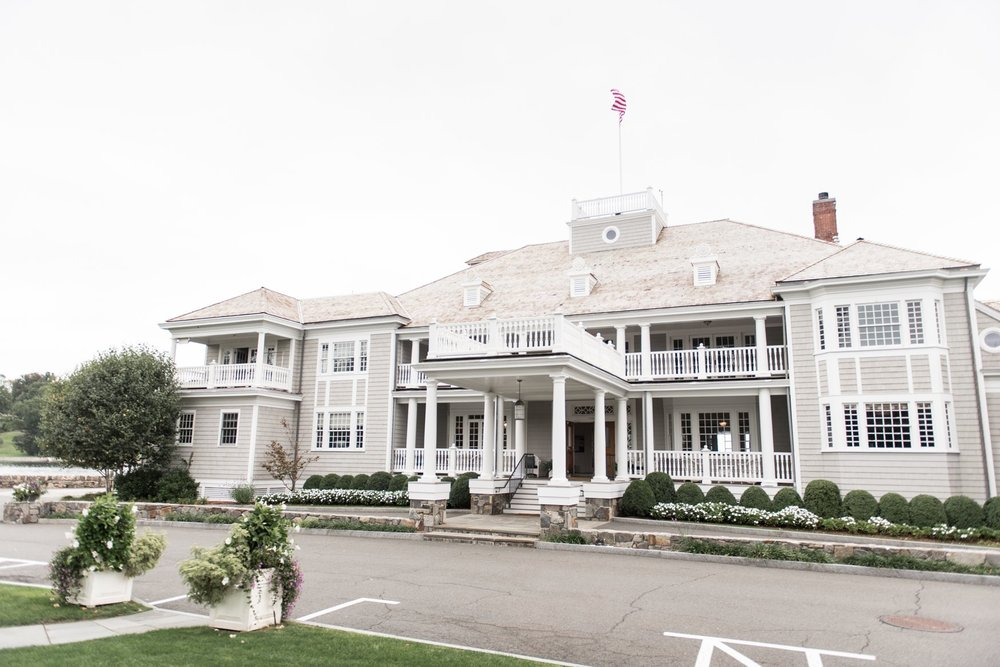 Belle Haven Club yacht club wedding venue on the water in Greenwich CT