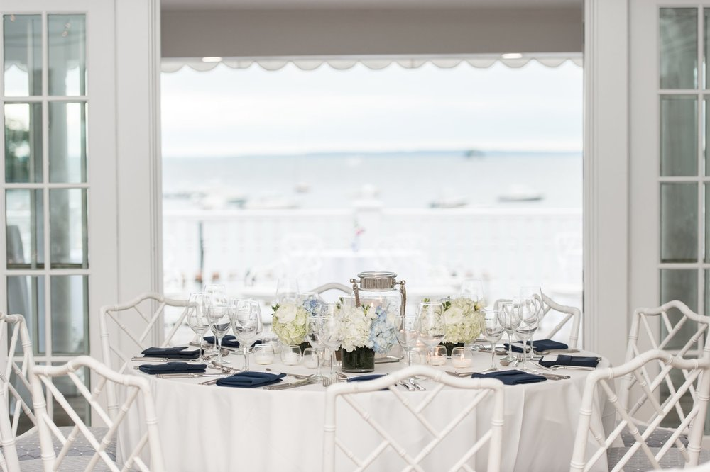 ocean views from reception room at belle haven club wedding