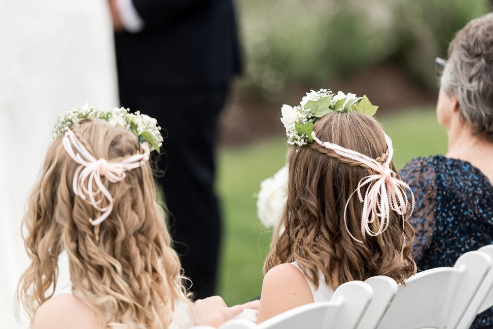 flower crowns by green of greenwich and flower girls hair done by Beauty Entourage