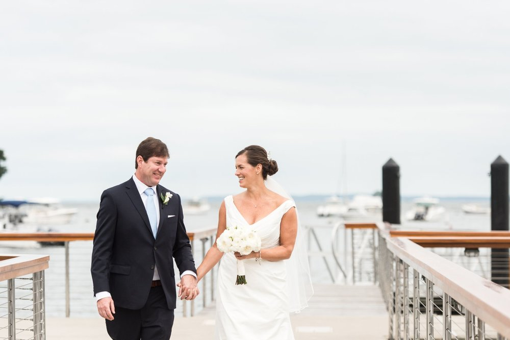 Fall Wedding at Belle Haven Club Bride and Groom First Look