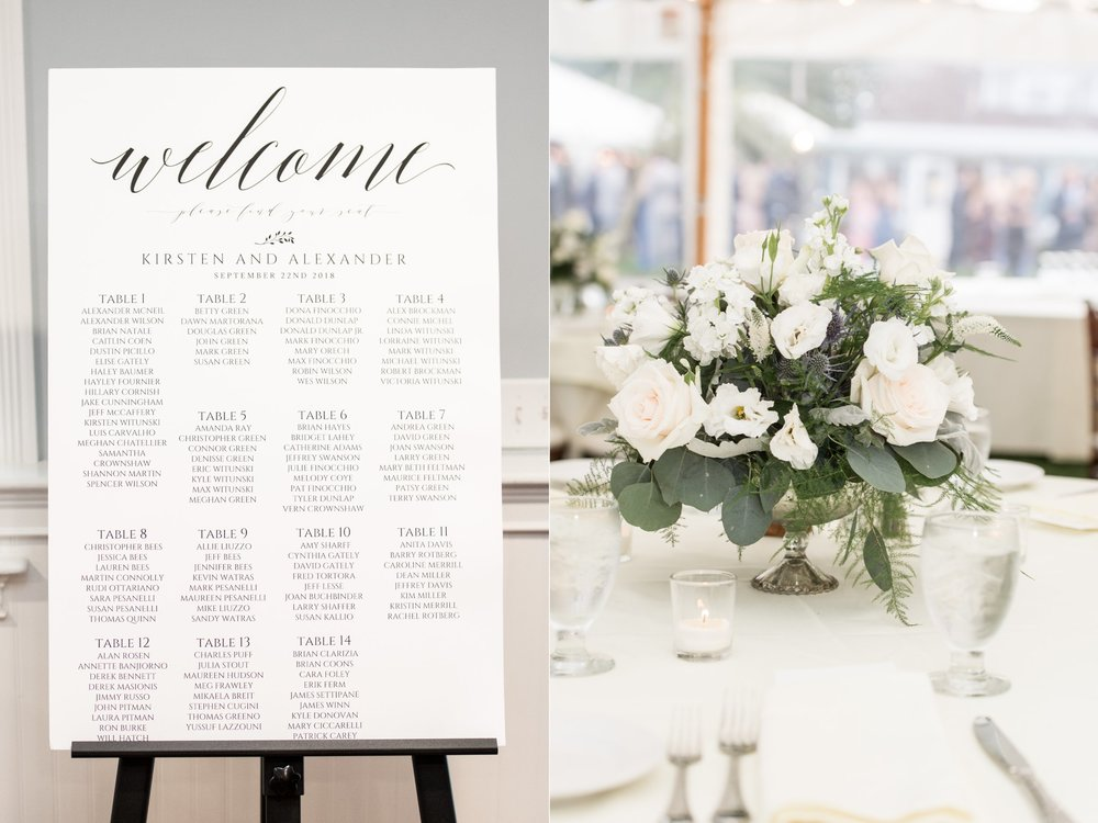 Wedding escort sign seating assignment