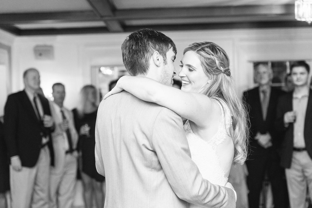 first dance at the dennis inn wedding