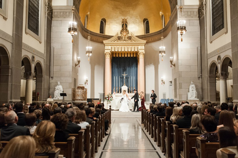 The College of the Holy Cross Wedding Ceremony at Saint Joseph Chapel