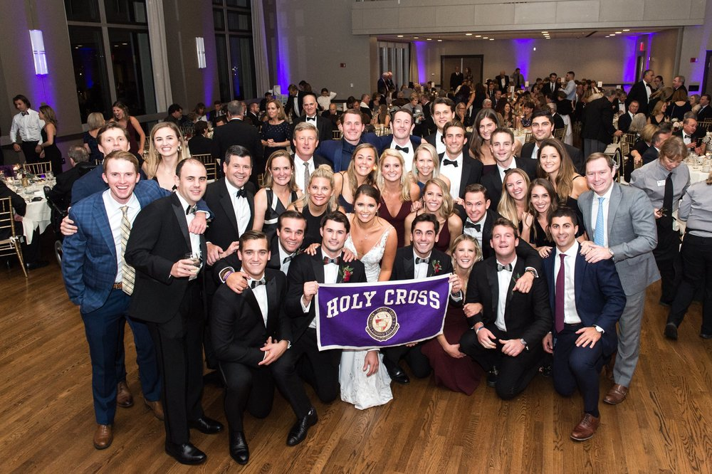 Holy Cross Alumni Wedding Holy Cross Lacrosse Hogan Campus Center Reception