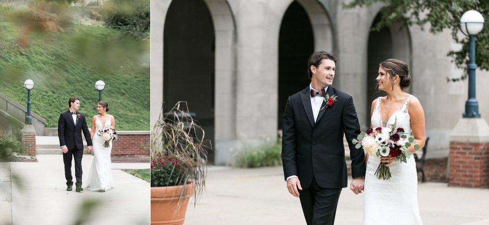 The Flowering Vine Bouquet and couples portraits for The College of the Holy Cross Wedding