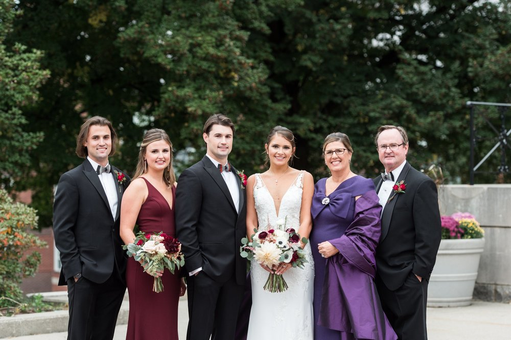 The College of the Holy Cross Alumni Wedding Family Portraits at the Chapel