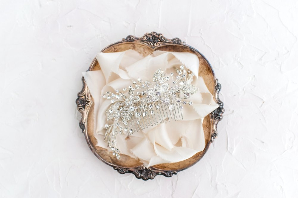 Wedding Planning Bridal Details Vintage Tray and Comb