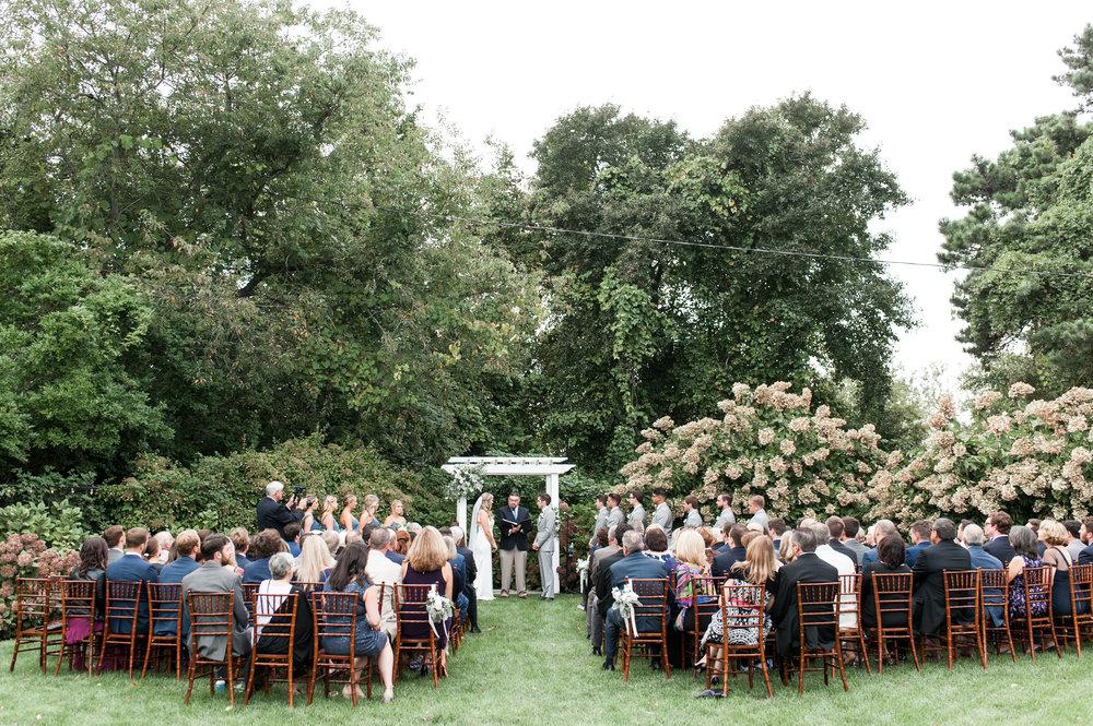 unplugged cape cod wedding at the dennis inn