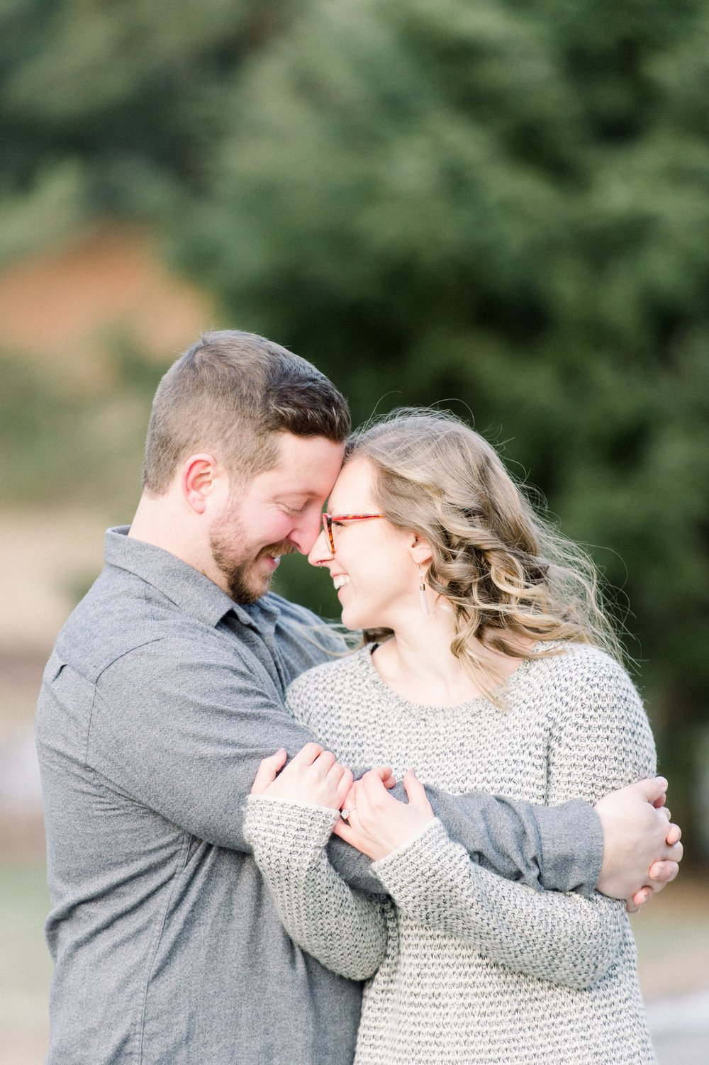 Arnold Arboretum Boston Winter Engagement Session Posing