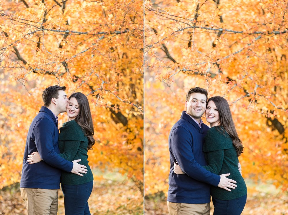 arnold arboretum fall boston engagement session golden hour light and fall foliage fall leaves