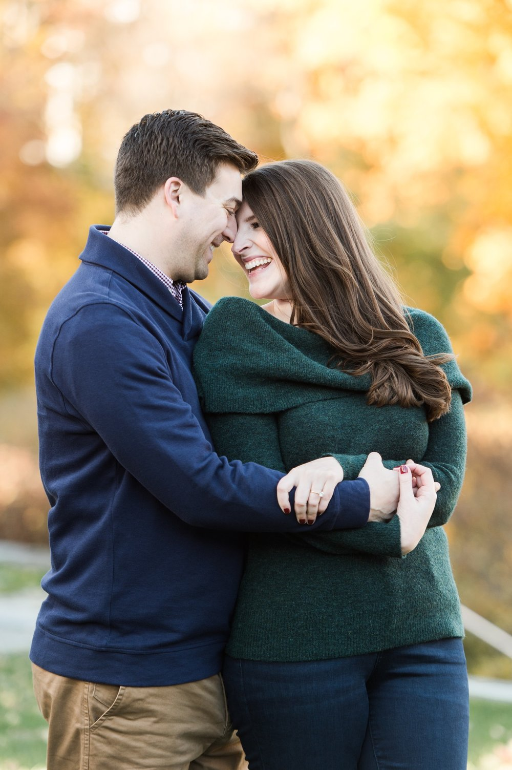 arnold arboretum fall boston engagement session jewel tones cozy sweaters  and fall foliage