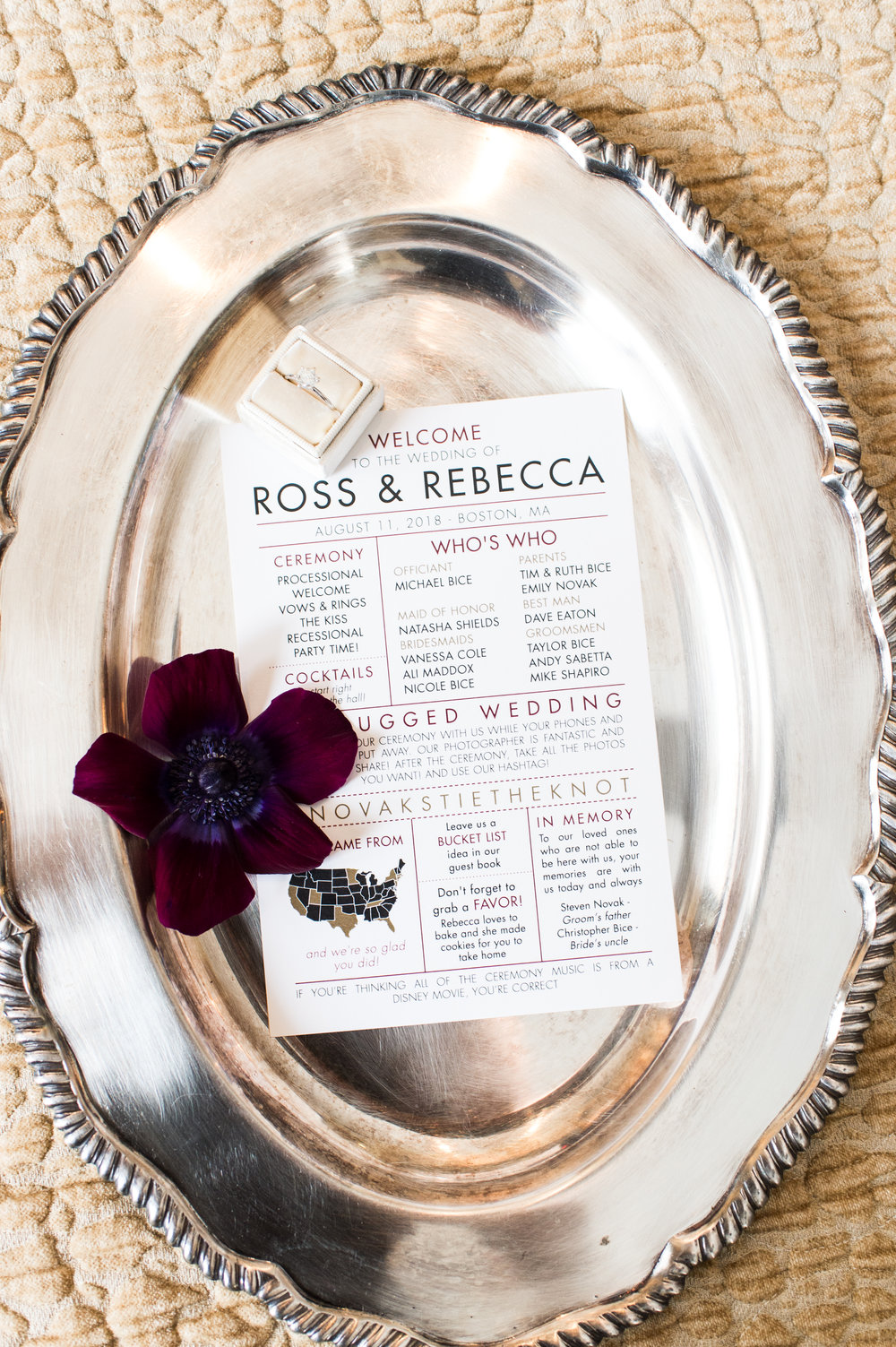 Lynn Graham Designs Day-of Stationery for the wedding of my sweet couple  Rebecca & Ross !