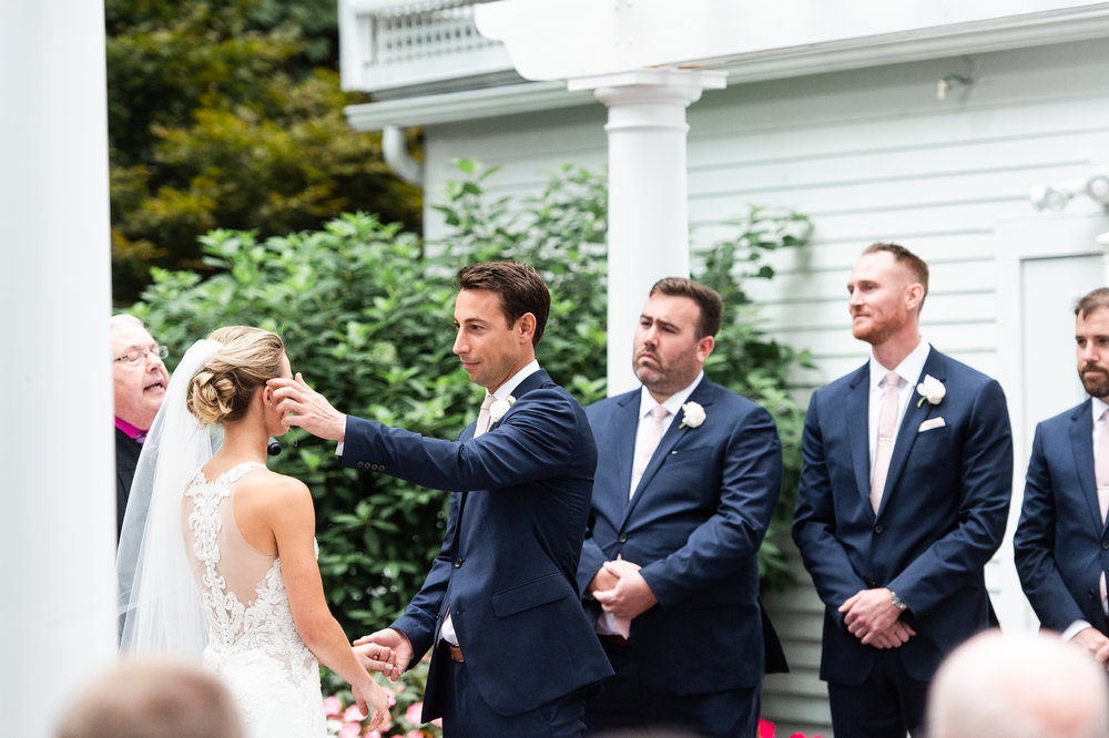 The Commons 1854 Topsfield MA wedding | Massachusetts wedding venue | Massachusetts wedding photography | First look | North Shore MA Wedding photos | outdoor ceremony
