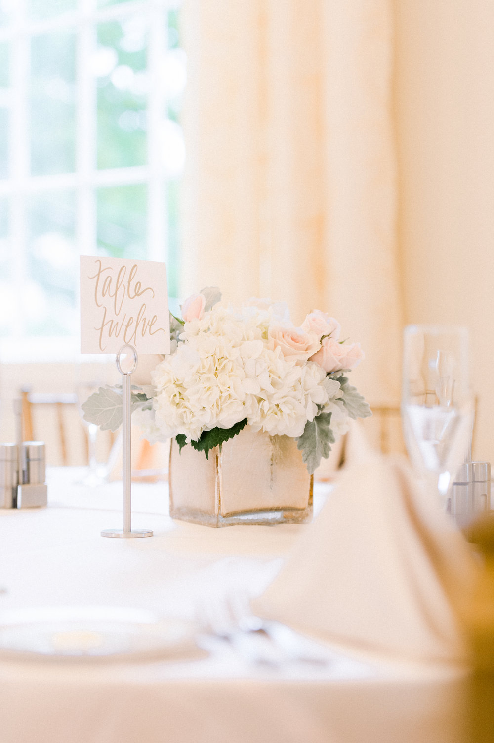 The Commons 1854 Topsfield MA wedding | Massachusetts wedding venue | Massachusetts wedding photos | North Shore MA Wedding photos | blush pink and white flower centerpieces