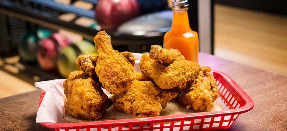 Famous Blue Ribbon Fried Chicken in a Basket