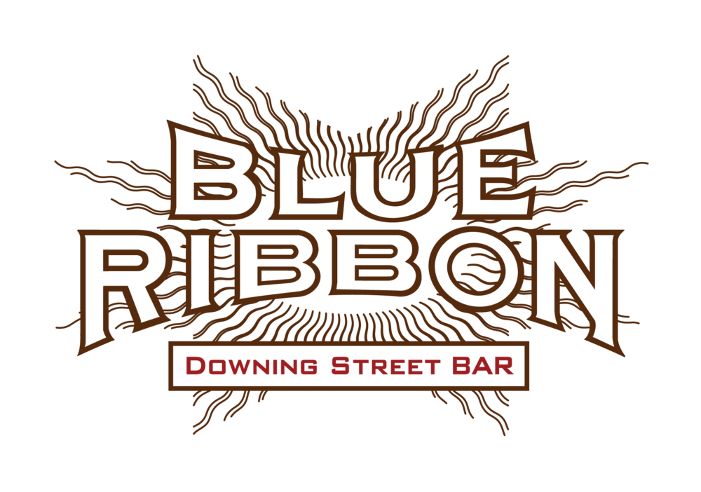 Blue Ribbon Downing Street Bar Logo - Links to Blue Ribbon Downing Street Bar page