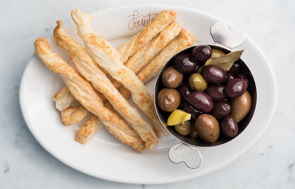 Bread Sticks & Olives