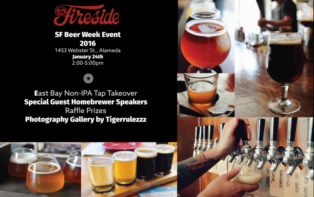 There's more to beer than IPA's! Come celebrate SF Beer Week at our Non-IPA Tap Takeover by East Bay Breweries. We'll be pouring limited releases brewed strictly for Beer Week.