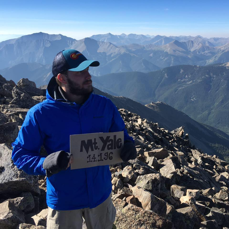 Eric Baker on a mountain. Click through to resume and contact information.