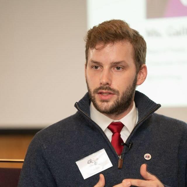 Eric Baker speaking. Click through for public diplomacy blog.