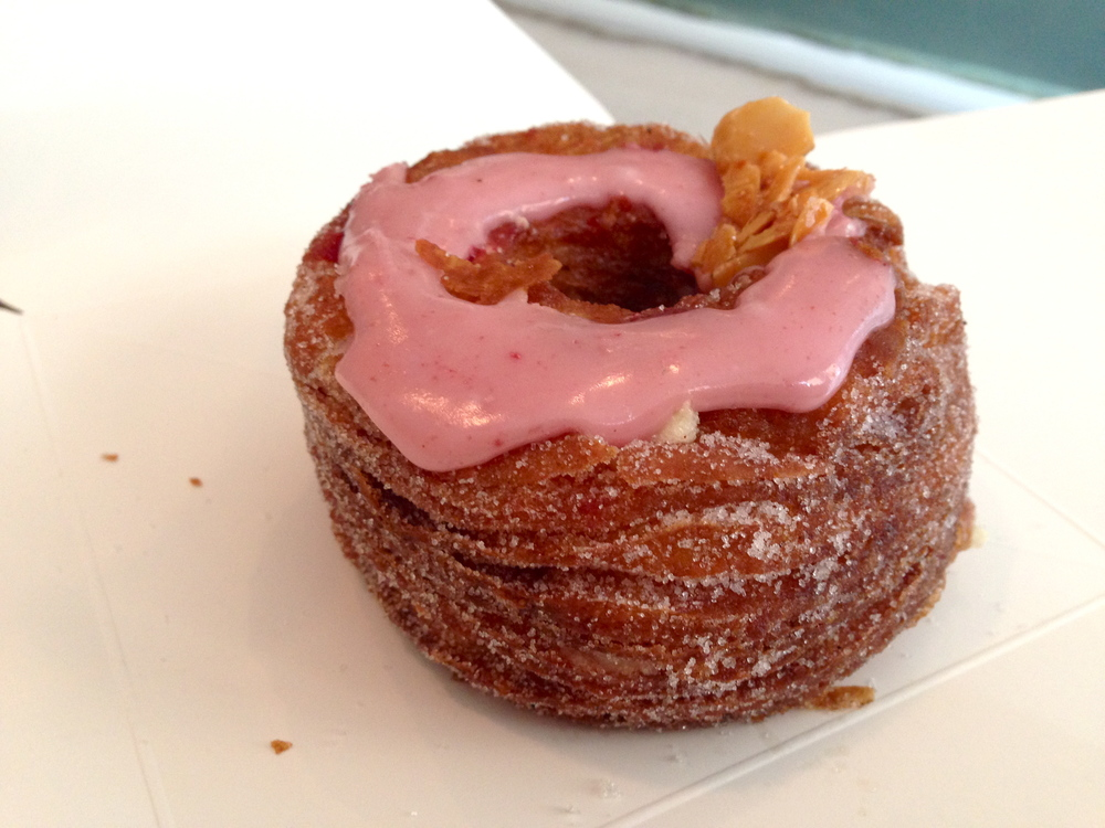 THE CRONUT. *hallelujah chorus sings* *heavy breathing and the sound of saliva hitting the table covers it up*