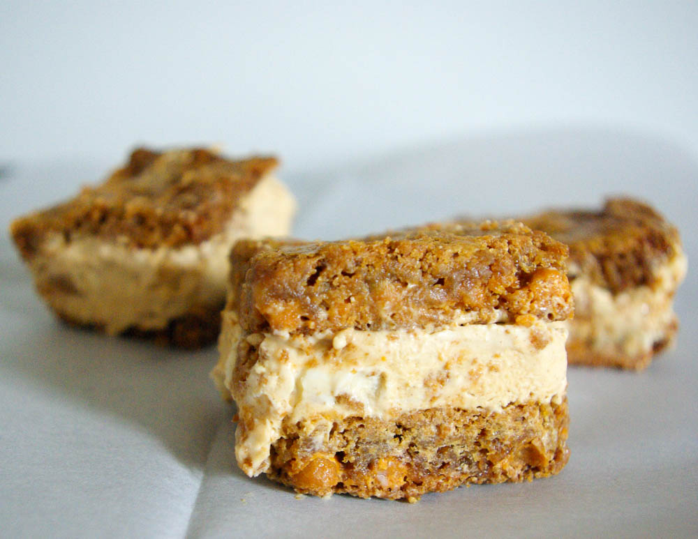 Butterscotch Carrot Cake Ice Cream Sandwiches - The Batter Thickens