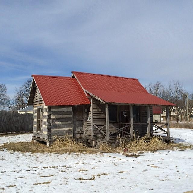 Ozarks cabin.