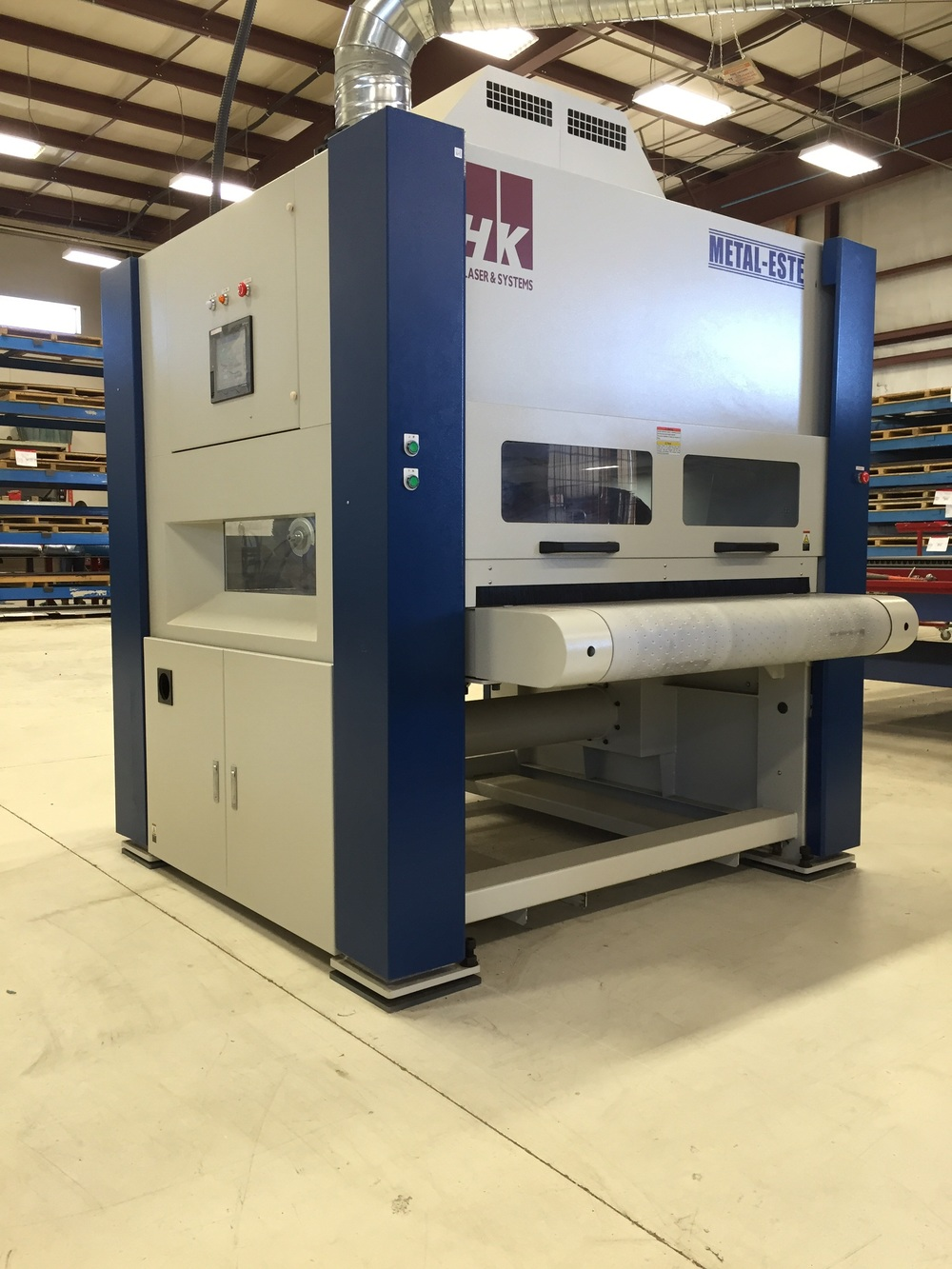 Here is an overall view of the machine from HK Laser & Systems.  Even though Lean Machine's official color is red, we are starting to get a lot of blue in the shop!