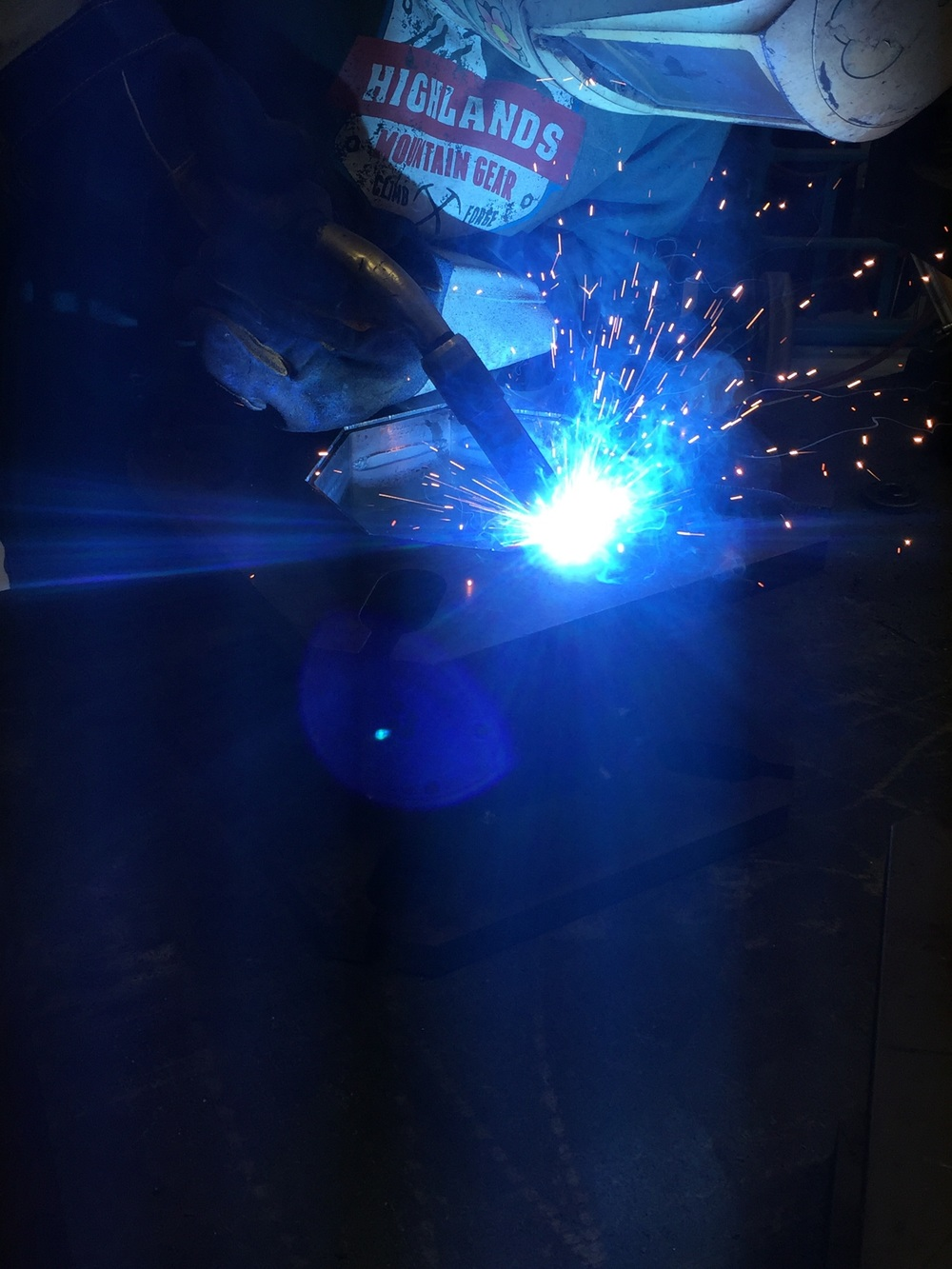Nothing much to say about this photo other than it's an arty photo of our Fronius welding equipment and one of our super skilled welders.
