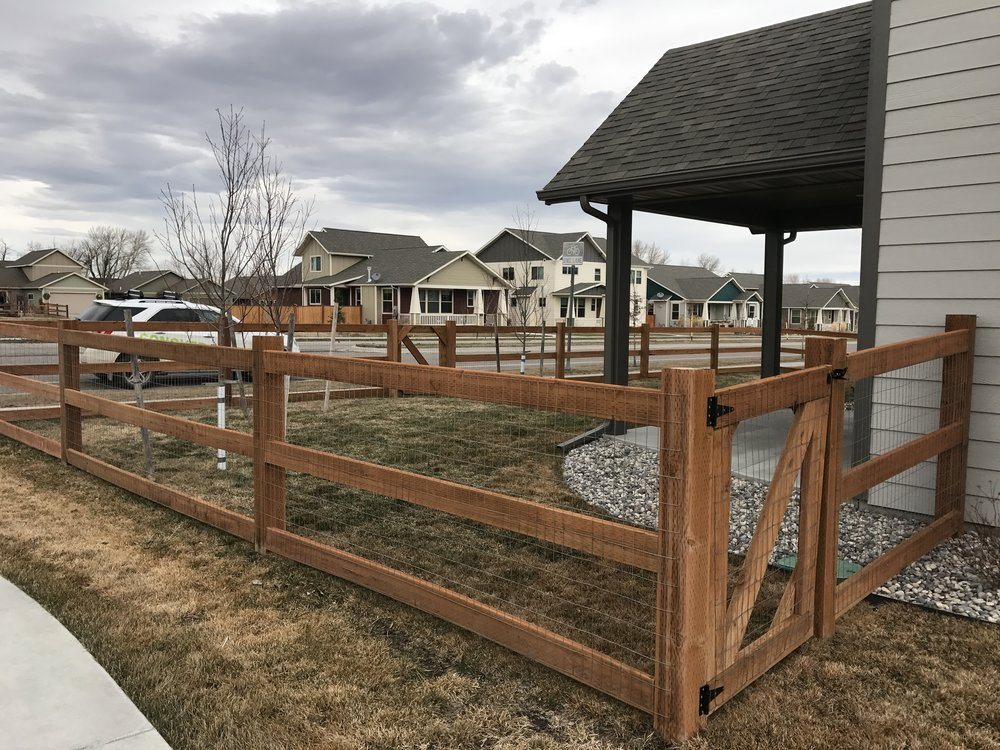 """Meadow Creek"" treated three-rail"