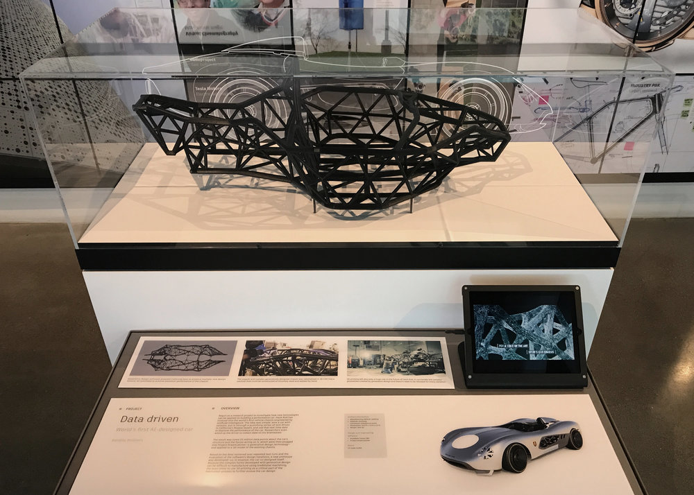 AUTODESK GALLERY - I worked closely with Autodesk internal research groups, creative leads, and copy teams to craft story vignettes that tell tochnology stories in the museum-like setting of the iconic Autodesk San Francisco Gallery