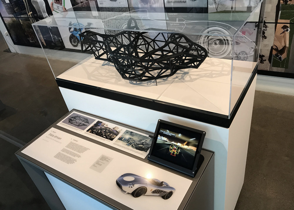 AUTODESK GALLERY - Each exhibit is crafted to endure the rigorous demands of museum traffic while combinig sophisticated writing, video, and high quality models and artifacts.