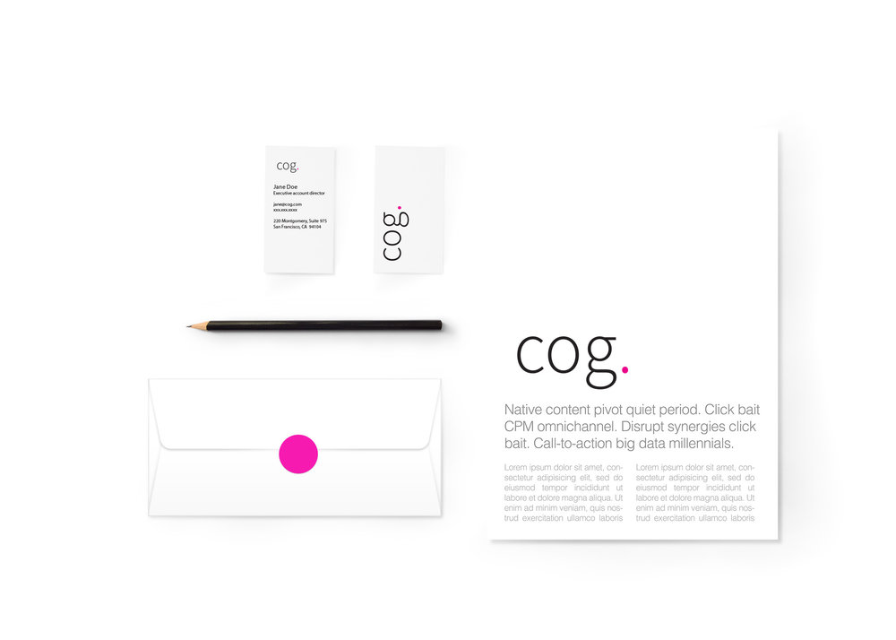 COG.com - I worked with the Cog team to help redefine the image of the 40 year old company. A re-investigation of Cog's core values and Intensive brand iteration helped in the development a new brand mark and redefined that is aimed at the next 40 years.cog.com