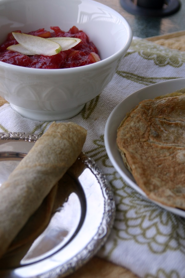Paleo Plumcot-Pear Crepes