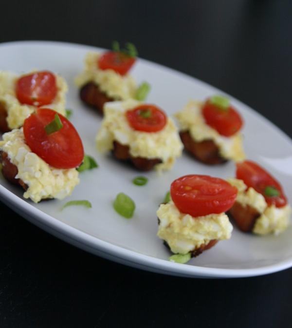 Egg Salad Bacon Bites