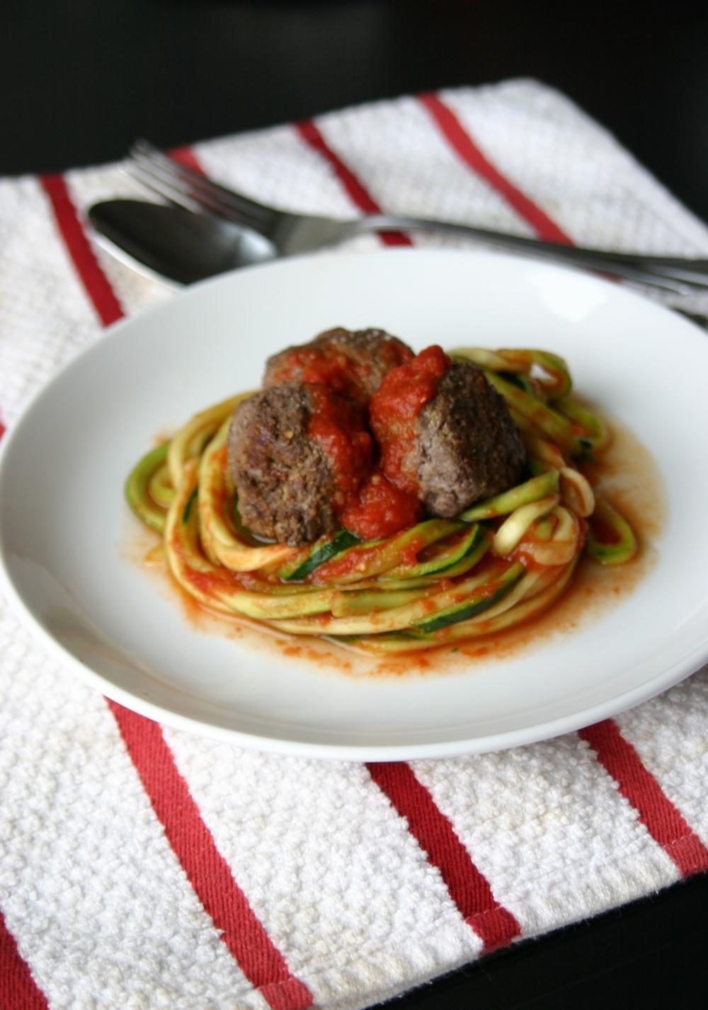 Paleo Spaghetti & Meatballs