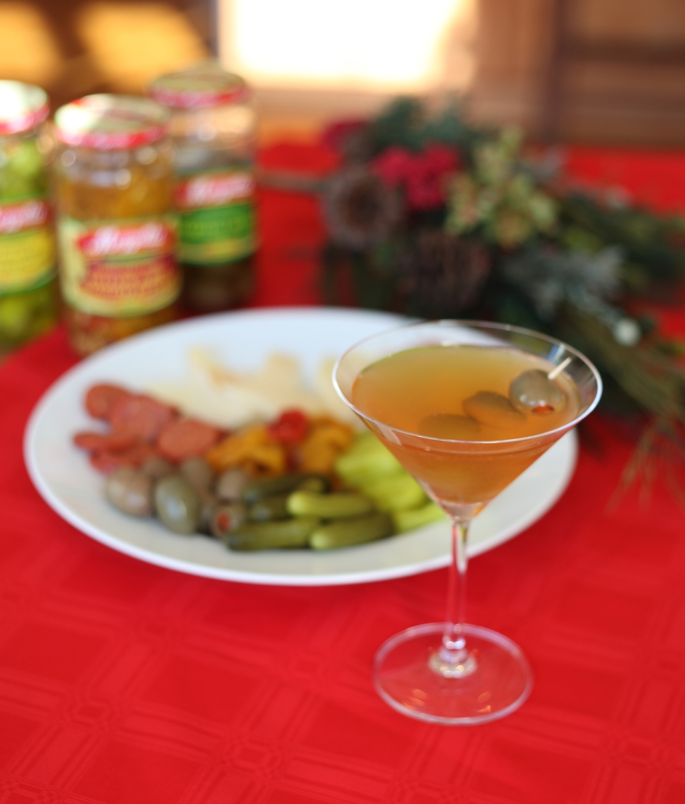 Two-Ingredient Martini + Antipasto