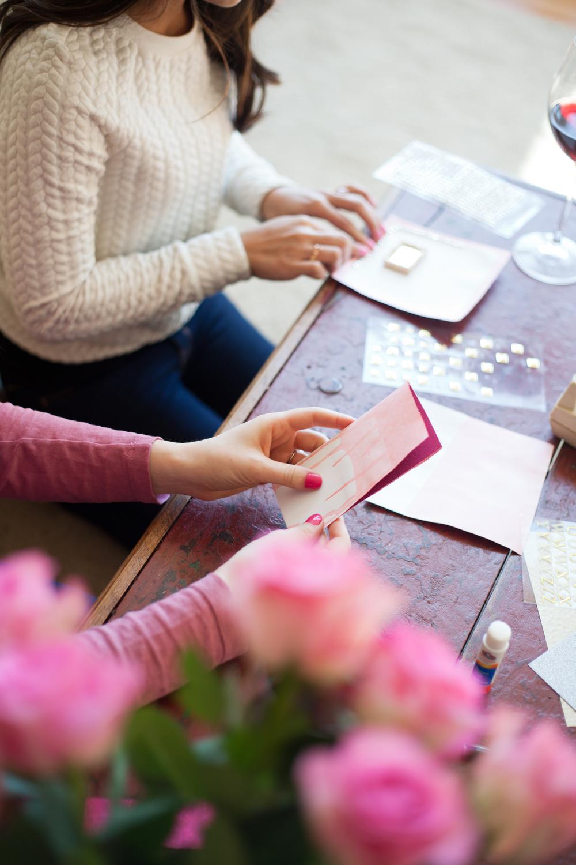 DIY Dip-Dyed Valentines